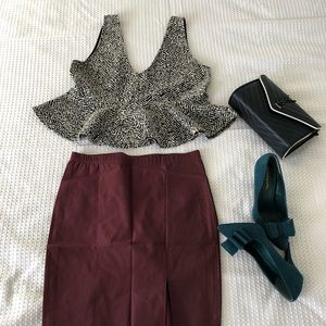 Charlotte Russe Faux Leather Skirt